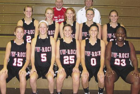 UW-Rock girls basketball team