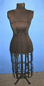 Brown jersey dress form