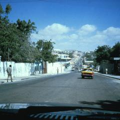 Street Scene in Upper Class Residential Area of Mogadishu