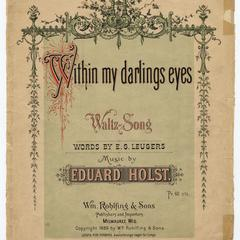 Within my darlings eyes