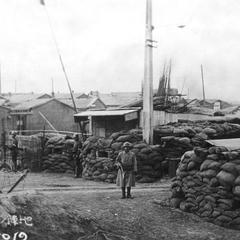 Japanese military position east of Xuhuquan 徐胡圈, Tianjin 天津.