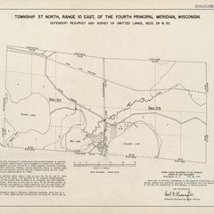 [Public Land Survey System map: Wisconsin Township 37 North, Range 10 East]
