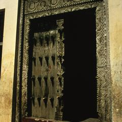 Zanzibar Front Door, Brass-Studded