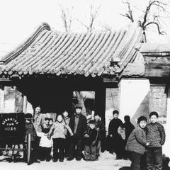 A typical temple compound entrance.