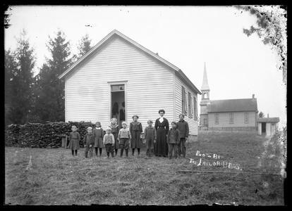 Rural school and class, exterior