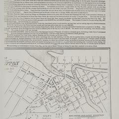 Plan of Burlington. Burlington, Wisconsin