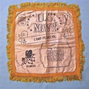 World War II pillow cover US Navy