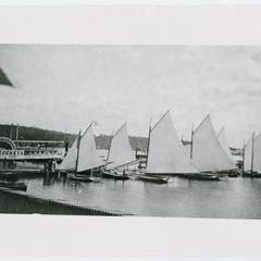 Lake Geneva steamboats and sailboats