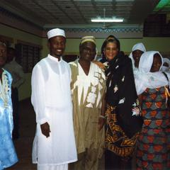 Guests at Fareeda's wedding reception