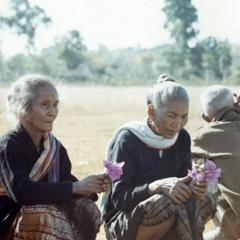 Two Laven women in Houei Kong are awaiting the visit of General Phasouk in Attapu Province
