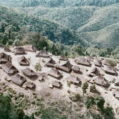 The Akha village of Chommok in Houa Khong Province
