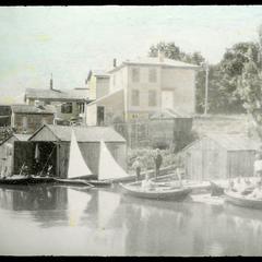 Boathouses on Pike Creek