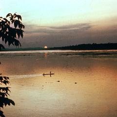View of Malebo Pool (Formerly Stanley Pool) at Sunset and Looking Toward Brazzaville