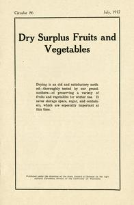Dry surplus fruits and vegetables