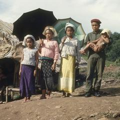 Ethnic Khmu' soldier and family