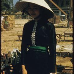 Morning market--Tai Dam woman (Black Tai)