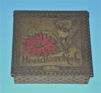 Wooden handkerchief box