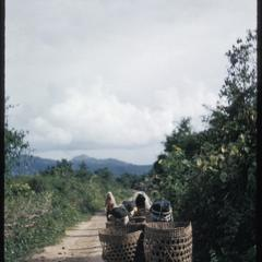 Akha girls on road