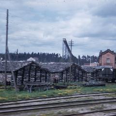 Swedish train yard