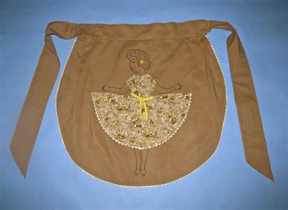 Brown cotton apron