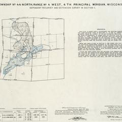 [Public Land Survey System map: Wisconsin Township 44 North, Range 04 West]