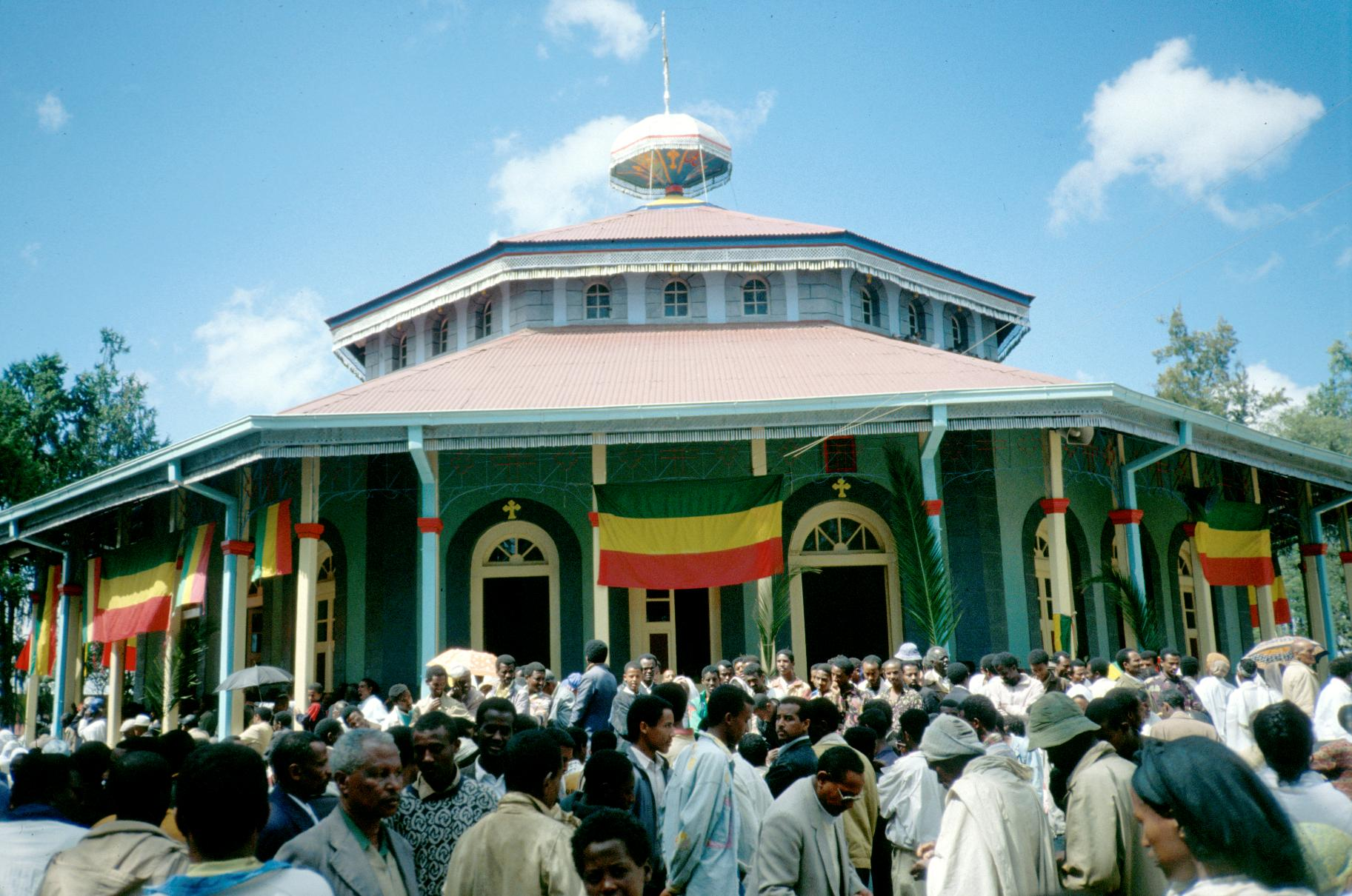A Feast Day At An Ethiopian Orthodox Church In Addis Ababa