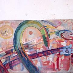 """Painting, """"Movement of the Migrating Spirit"""""""