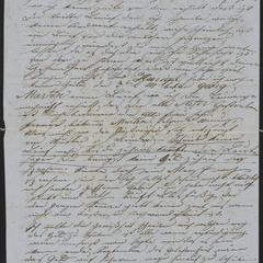 [Letter from Anton Klenert to his friend, Jakob Steinberger, August 7, 1853]