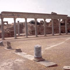 Pillars in Roman Ruins at Thuburbo-Majus