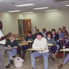 Professor George Jones teaching a class