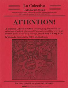 Poster for La Colectiva Cultural de Aztlan