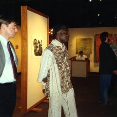 Folarin at art gallery