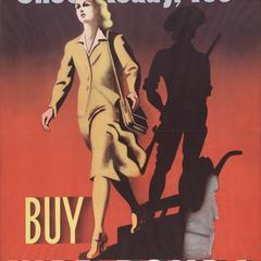 'She's ready, too' war bonds poster
