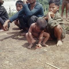 Ethnic Khmu' man and children