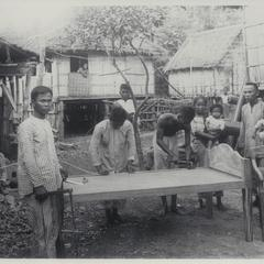 Making a Philippine bed, 1923-1924