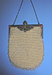 Beaded bag with clear beading