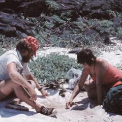 James D. Hinkle (Field Assistant) and E. Elizabeth Pillaert (Expedition Leader)