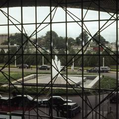 Conference center window