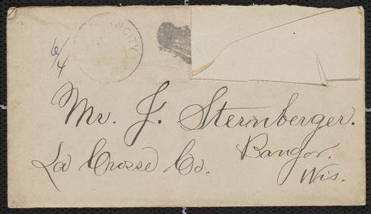 [Letter from Julie and Hanna Sternberger to their parents, Jakob and Franziska Sternberger, July 2, 1885]