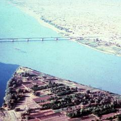 The White Nile and Blue Nile Meet Near a Bridge Connecting Omdurman and Khartoum North