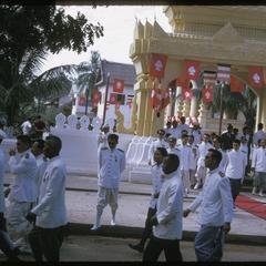 Leaving oath taking ceremony at Vat Ong Tu