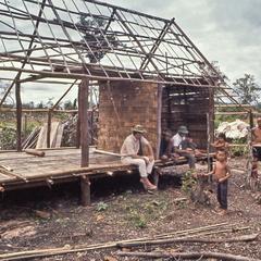 Hut building