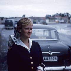 Woman with a taxi cab