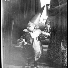 Boy in masquerade costume