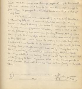Bow hunting in the Gila, journal entry (text and drawing), New Mexico, November 1927