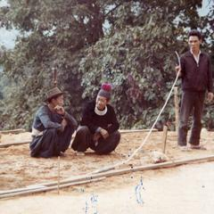 Blue Hmong men in northern Thailand