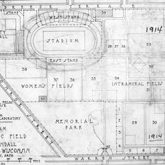Plan, Athletic Fields, 1914