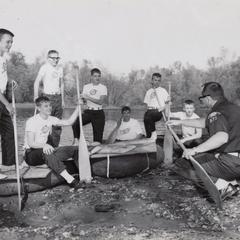 Boy scout raft race