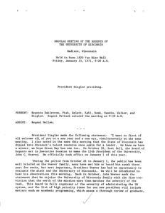 John Weaver (1971-1977) : Minutes of the University of Wisconsin System Board of Regents