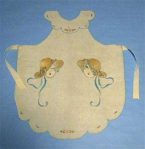 Apron with women in sunbonnets